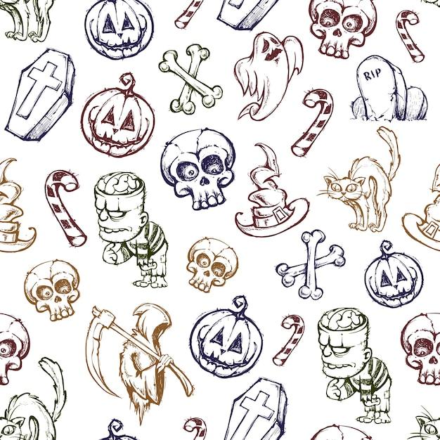 Patrón de halloween | Descargar Vectores gratis