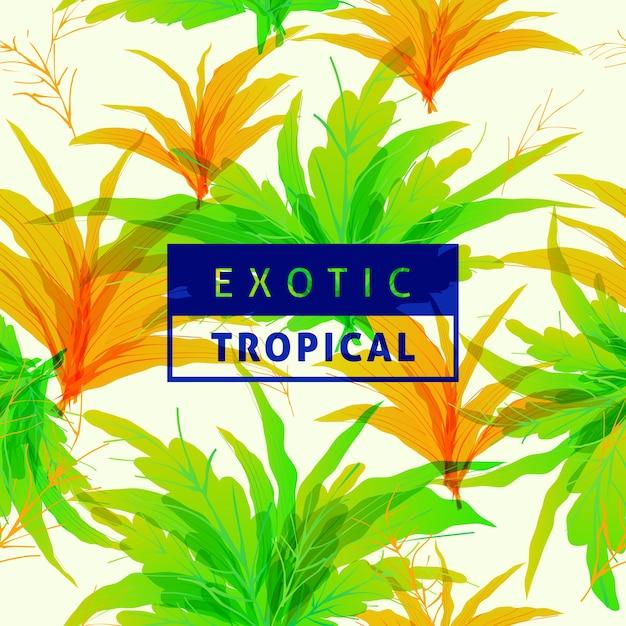 Patrón de hojas de primavera tropical | Descargar Vectores Premium