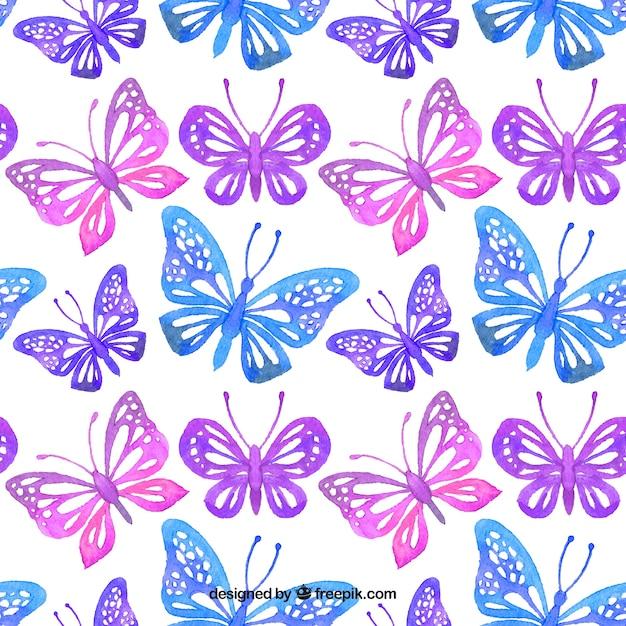 Patr n de mariposas decorativas de acuarela descargar - Fotos decorativas ...