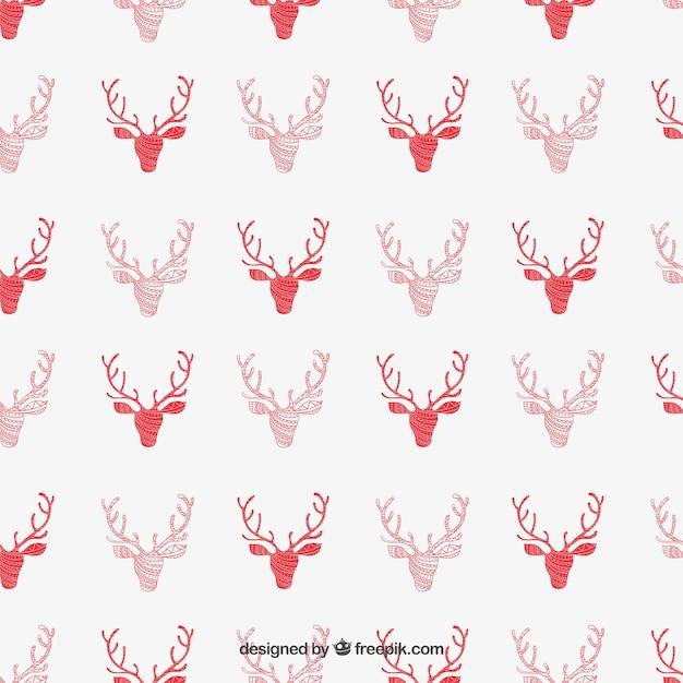 Patrón de renos rojo | Descargar Vectores gratis