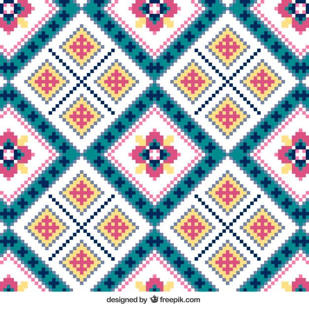 Patrón de tejer con flores | Descargar Vectores gratis