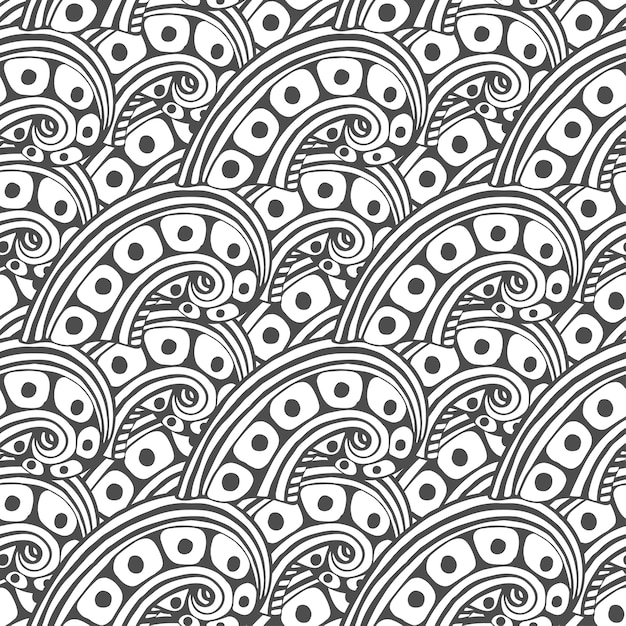 Patrón de vector con ornamento abstracto. página de libro de ...