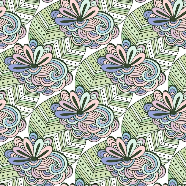 Patrón de vector floral de arte zen. página para colorear de ...