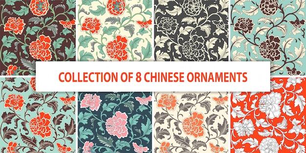 Patrón dibujado a mano floral coloreado ornamental. Vector Premium