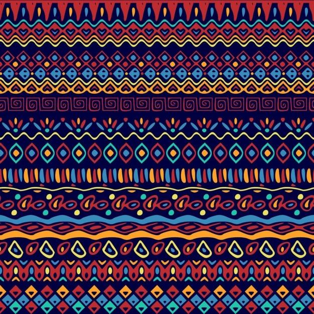 Patrón de dibujos étnicos vector gratuito
