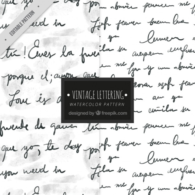 Patrón de escritura con tinta vector gratuito