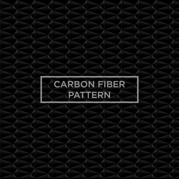 Patrón de fibra de carbono negro vector gratuito