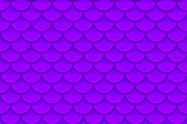 Patrón sin fisuras de coloridas escamas de pescado violeta púrpura. escamas de pescado, piel de dragón, carpa japonesa, piel de dinosaurio, espinillas, reptil, piel de serpiente, herpes zóster. Vector Premium