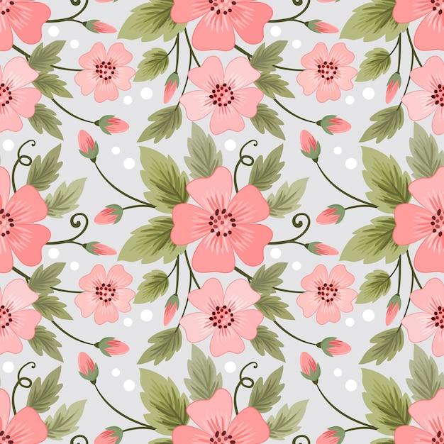 Patrón sin fisuras de flores de colores para papel tapiz textil tela. Vector Premium