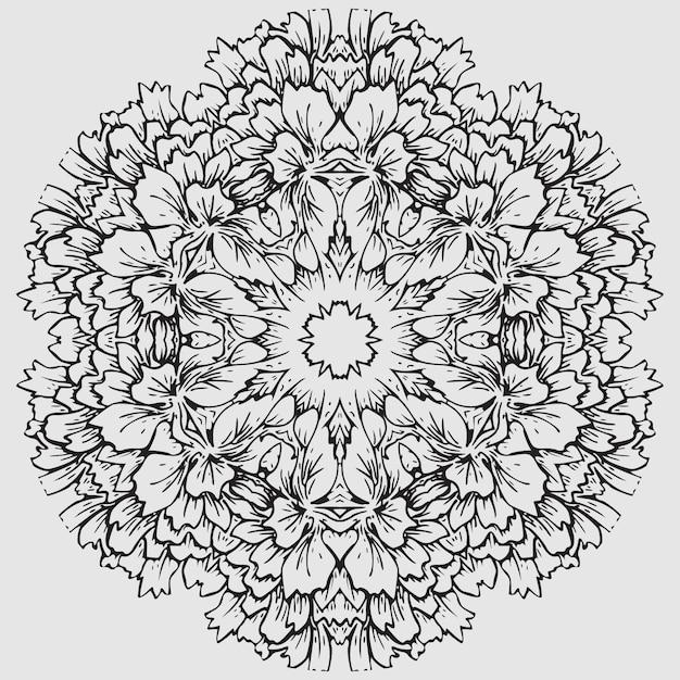 Patrón de flor mandala para colorear | Descargar Vectores Premium
