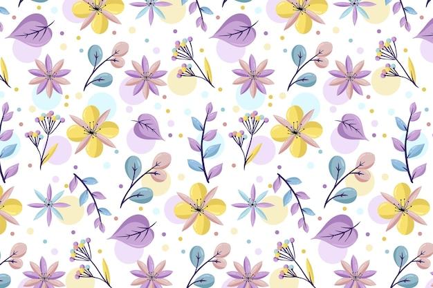 Patrón floral con colores pastel. vector gratuito