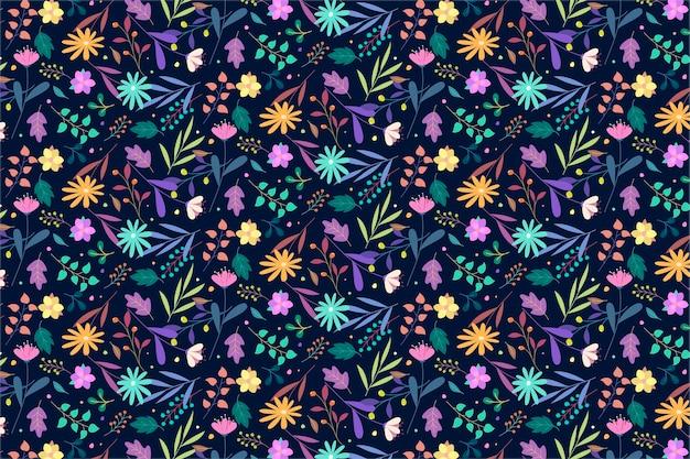 Patrón floral colorido vector gratuito