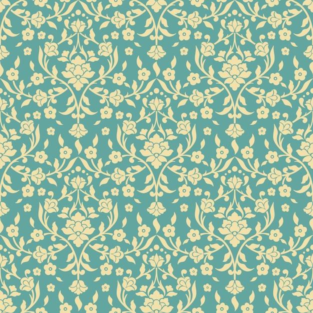 Patrón floral decorativo vector gratuito