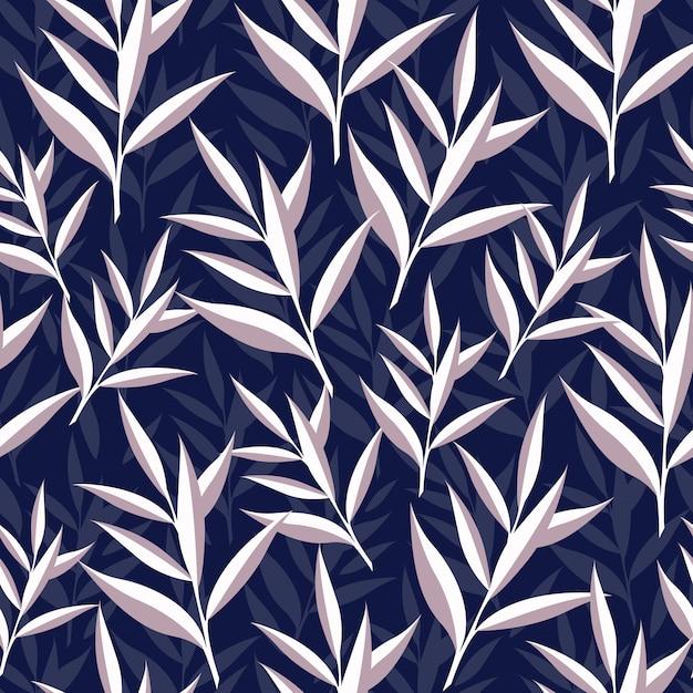 Patrón floral sin fisuras Vector Premium