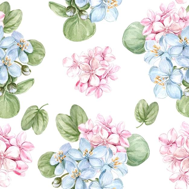 Patrón floral sin fisuras vector gratuito