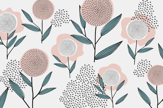 Patrón floral retro vector gratuito