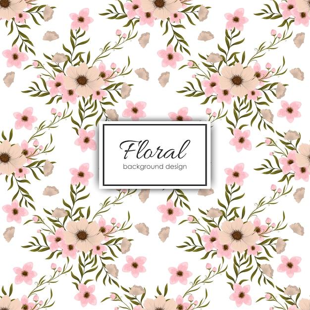 Patrón floral transparente de moda en ilustración vectorial vector gratuito