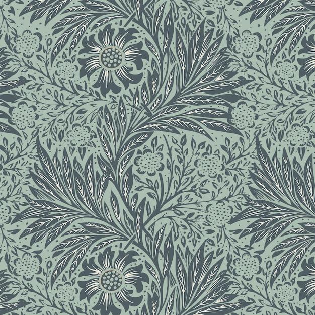 Patrón floral vector gratuito