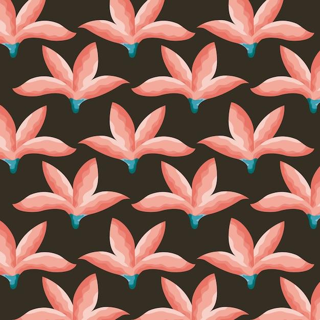 Patrón de flores tropicales vector gratuito