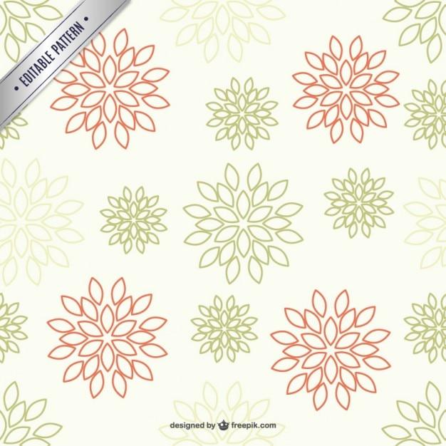Patrón de fondo con flores de dos colores | Descargar Vectores gratis