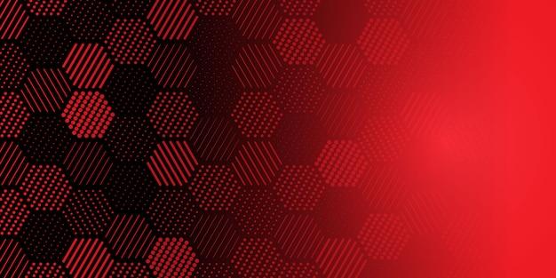 Patrón de forma hexagonal con estilo vector gratuito
