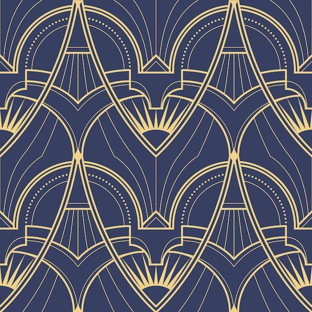 Patrón geométrico abstracto art deco Vector Premium