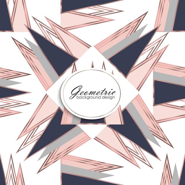 Patrón geométrico abstracto de lujo. fondo de moda vector gratuito