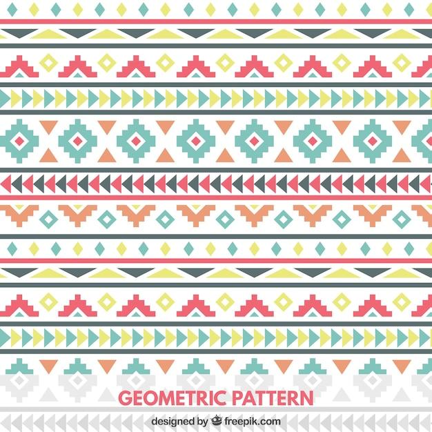 Patrón Geométrico De Colores En Estilo Tribal Descargar Vectores