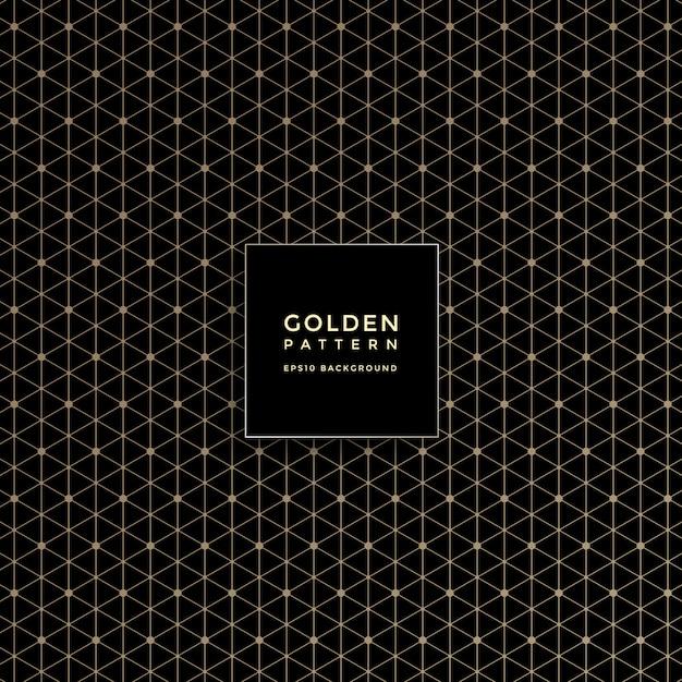 Patrón geométrico dorado de lujo, fondo abstracto Vector Premium