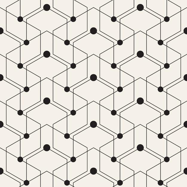 Patrón geométrico con líneas y puntos | Descargar Vectores gratis