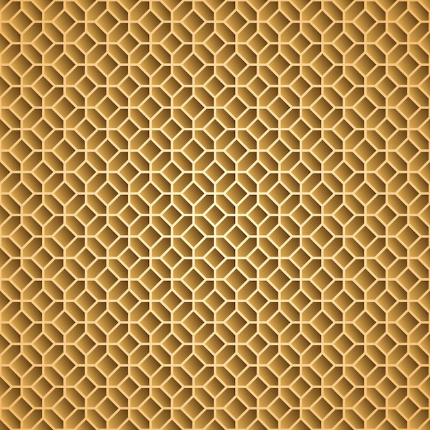 Patrón geométrico ornamento árabe Vector Premium