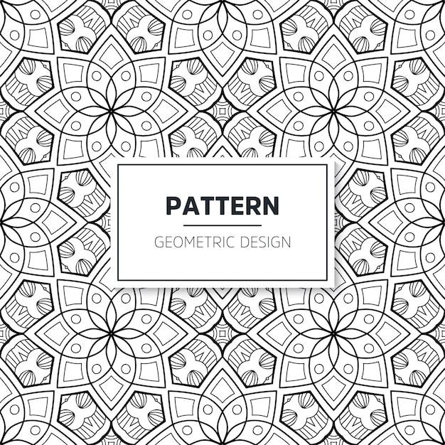 Patrón islámico mandala sin costuras. elementos vintage vector gratuito