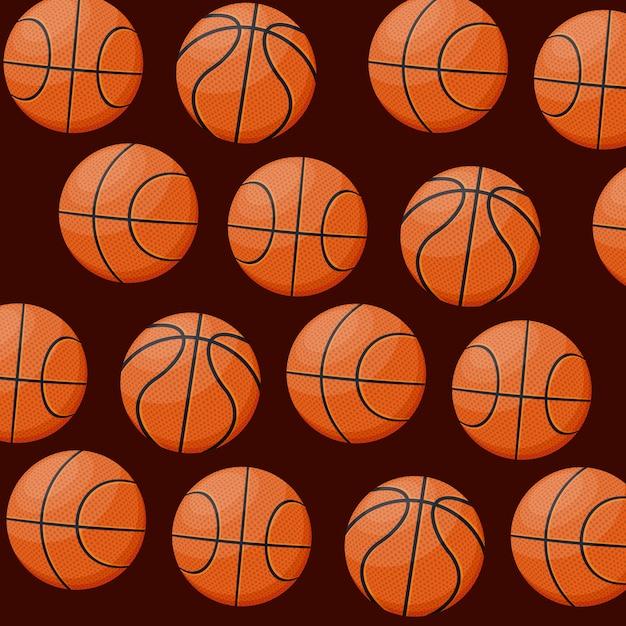 Patrón de juego de baloncesto deportivo. vector gratuito