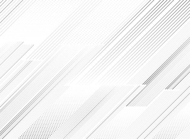 Patrón de línea negra moda abstracta de fondo de la decoración. Vector Premium