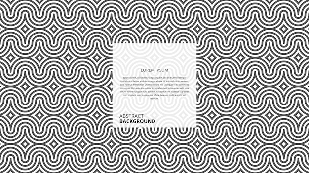Patrón de líneas onduladas decorativas abstractas Vector Premium