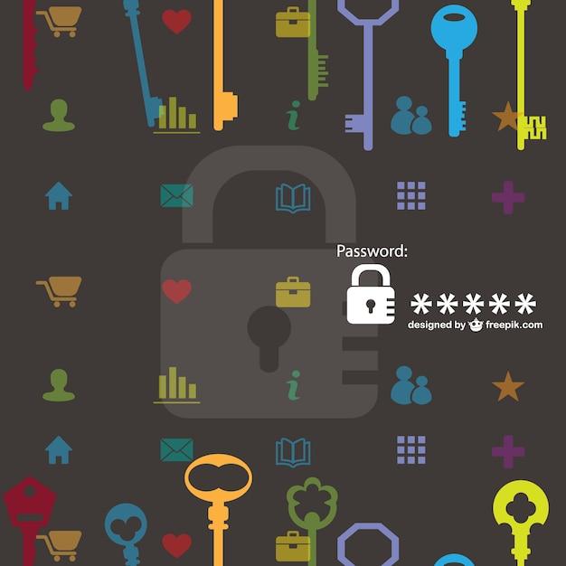 Patrón de llaves y candados vector gratuito