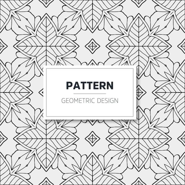 Patrón de mandala de lujo. diseño geométrico vector gratuito