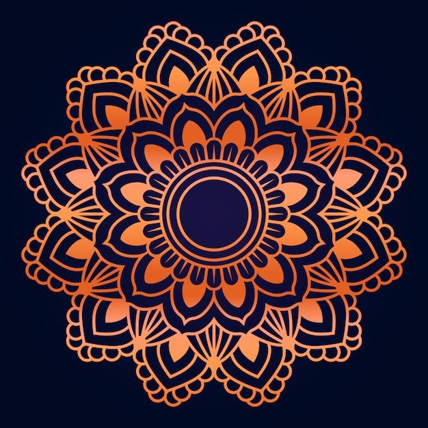 Patrón de mandala de lujo estilo islámico est Vector Premium