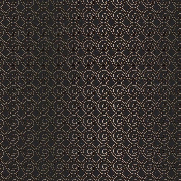 Patrón de mandala de oro de lujo vector gratuito