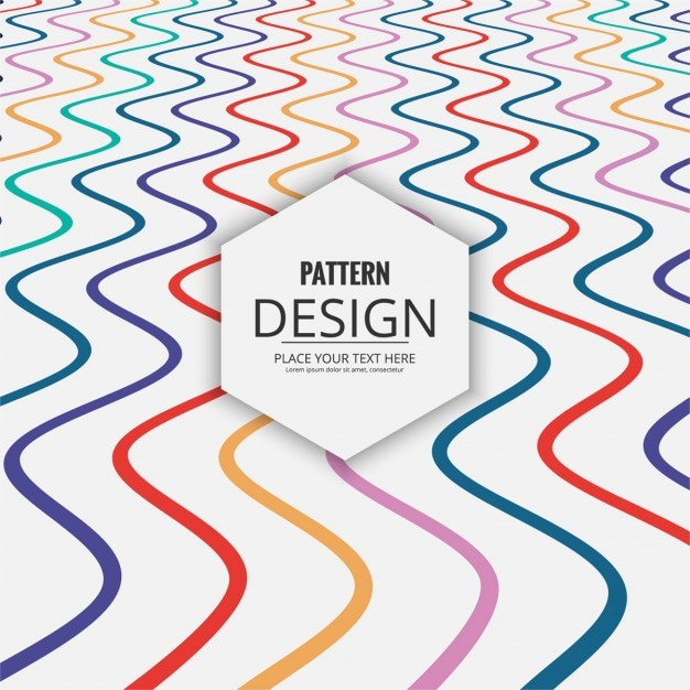 Patrón moderno de ondas de colores con perspectiva | Descargar ...