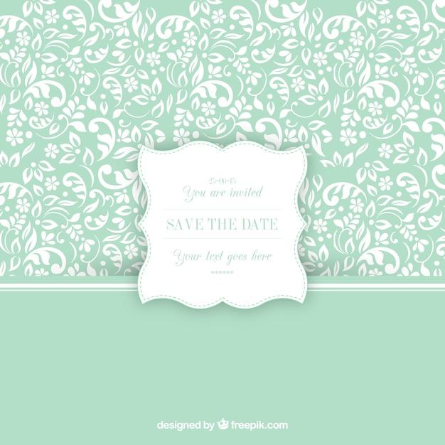 Patrón ornamental con la etiqueta de invitación de boda | Descargar ...