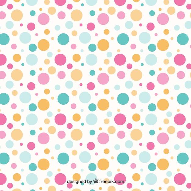 Patrón de puntos de colores | Descargar Vectores gratis
