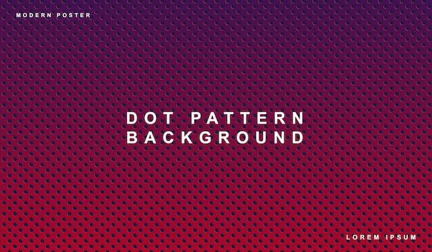 Patrón de puntos de fondo púrpura Vector Premium