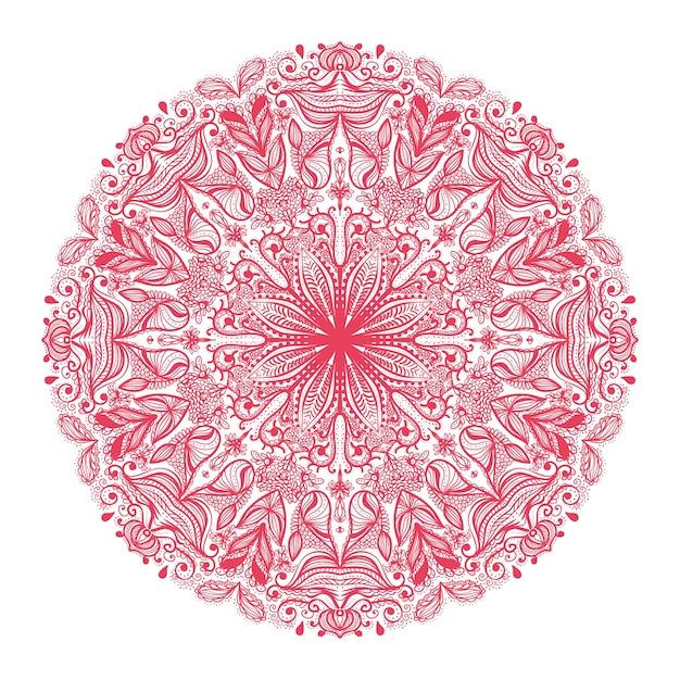 Patrón redondo ornamental | Descargar Vectores gratis