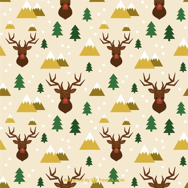 Patrón de renos navideños | Descargar Vectores gratis