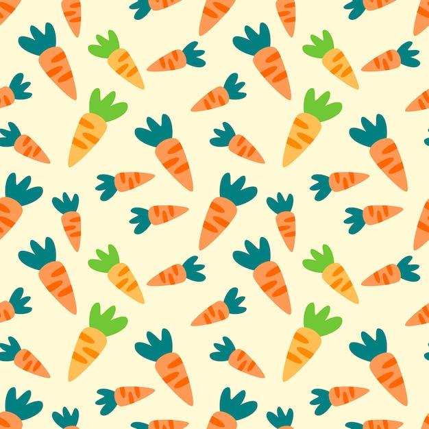 Patrón sin costuras de zanahoria | Descargar Vectores Premium