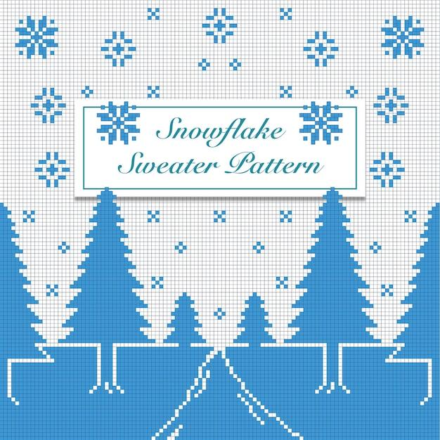 Patrón de suéter de copo de nieve | Descargar Vectores Premium