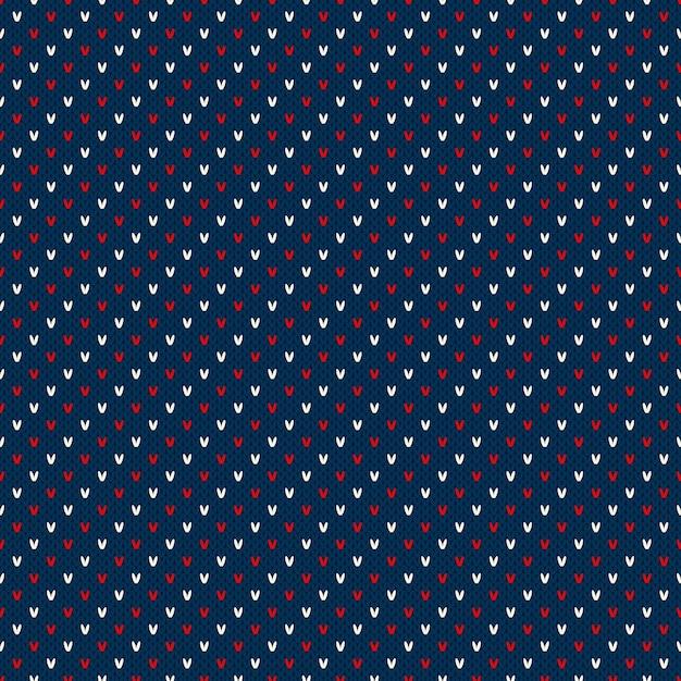 Patrón de suéter de punto a rayas abstracto Vector Premium