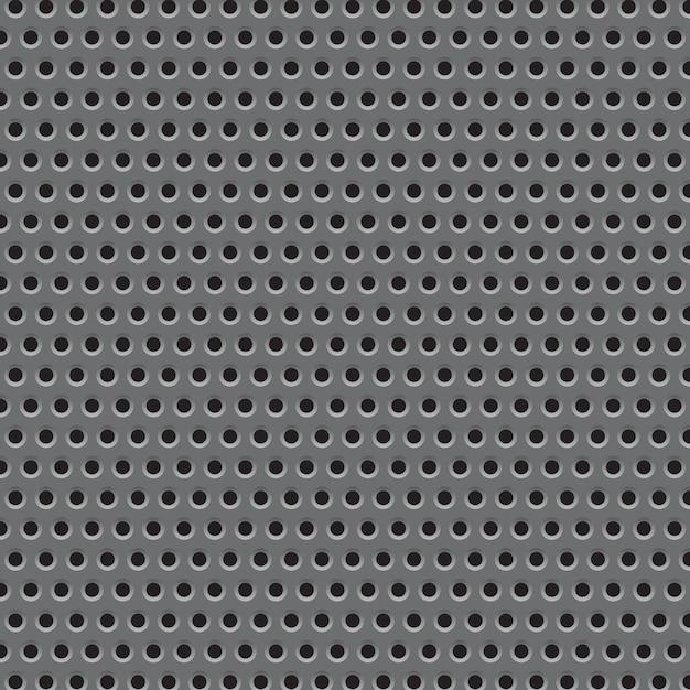 Patrón de textura de rejilla de placa de metal. Vector Premium