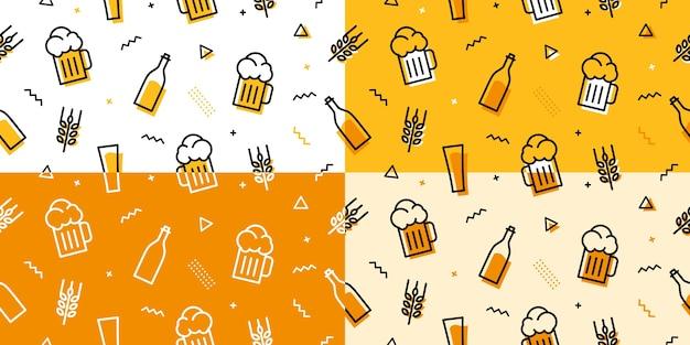 Patrón transparente de cerveza Vector Premium